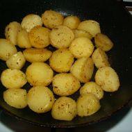 Pečené brambory s česnekem recept