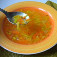 Zeleninová polévka s těstovinou recept