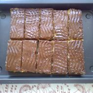 Jablkové řezy s čokoládovou polevou recept