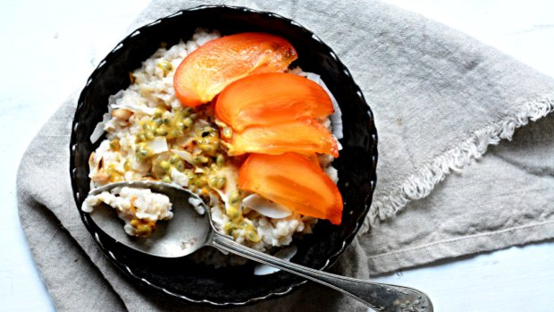 Snídaně plná energie – rýžová kaše s mučenkou