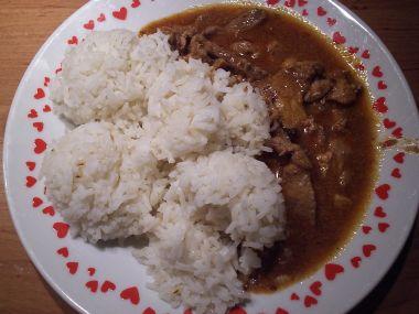 Vepřové hranolky s rýží