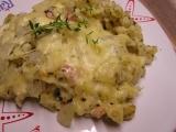 Špecle zapečené s cibulkou a sýrem recept