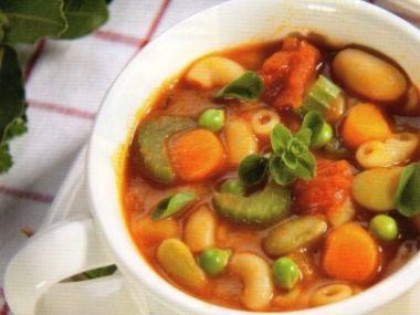 Zeleninová polévka s rici-bici