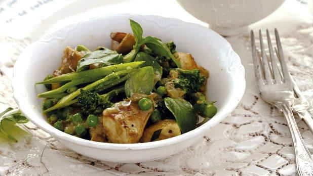Kuřecí curry se zelenou zeleninou