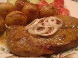 Marinovaná česneková krkovice pečená s bramborami recept ...
