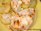 Pečené smetanové kuře s brambory (bez lepku, mléka a vajec ...