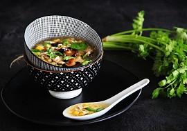 Vietnamská kuřecí (slepičí) polévka Súp Gà Nấm Hương recept ...