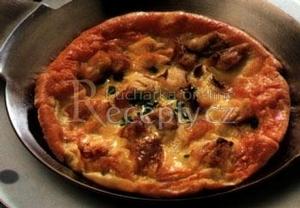 Omeleta s uzenou makrelou