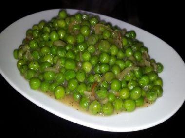 Zelený hrášek se šunkou