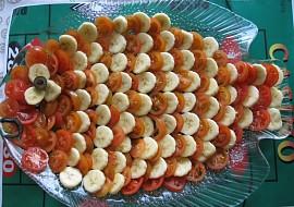 Rajčato  česneko  banánový salát recept