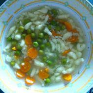 Hrášková polévka s haluškami recept