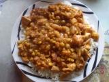 Kuřecí směs s hráškem a kukuřicí recept