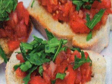 Focaccia-Pomodoro (Bruschetta s rajčaty)