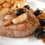 Hovězí steak s olivami recept