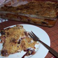 Švestkový koláč s vločkami recept