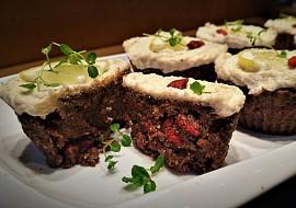 Raw mrkvové muffiny s citronovou polevou recept