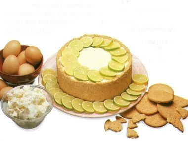Citronový tvarohový dort