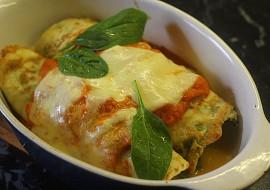 Špenátové palačinky zapečené s rajčatovou omáčkou recept ...