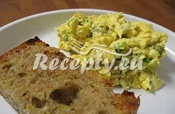 Míchaná vejce s pórkem recept  jídla z vajec