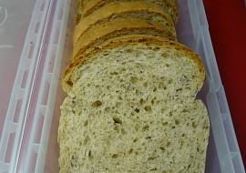 Pšenično  žitný chlebík pečený ve formě recept