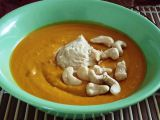 Dýňová polévka s máslem z kešu ořechů recept