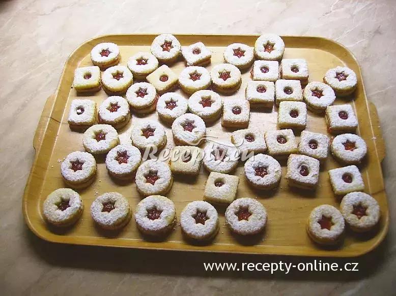 Slepované linecké cukroví recept  nejen vánoční cukroví