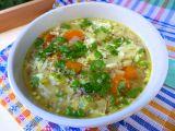 Vydatná polévka s pohankou a vejcem recept