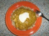 Kuřecí maso v zeleninové (brokolice, celer, petržel, mrkev) omáčce s ...