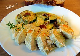 Kuřecí prsa s kozím sýrem,lilkem,cuketou a sušenými rajčaty recept ...