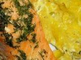 Losos na smetanových bramborách recept