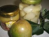 Zavařené hrušky s citrónom recept