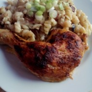 Maminčino kuře na kolínkách s játry a žampiony recept