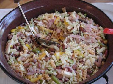 Fazolový salát s majonézou