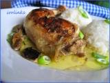Pečené kuře na houbách recept