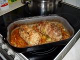 Vepřové roládky na zelenině recept