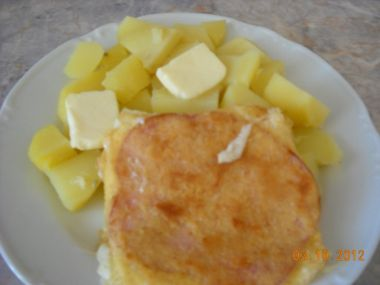Obalovaný sýr pečený v troubě