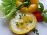 Paprikové řezy se sázenými vejci recept