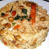Eintopf z telecího masa s dušenou rýží a zeleninou recept