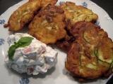 Cuketovo  kedlubnové placičky s tvarohovou salsou recept ...