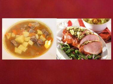 Sváteční oběd 48  Irská polévka a Uzené na česneku