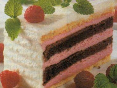 Slavnostní malinový dort