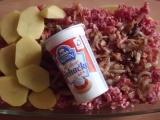 Brambory, smetana, mleté maso recept