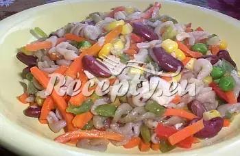 Těstoviny s mexickou zeleninou recept  recepty pro děti