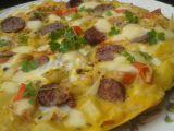 Zelná omeleta s klobásou recept
