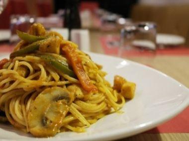 Špagety se žampiony