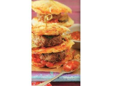 Bramborové placky s hamburgerem