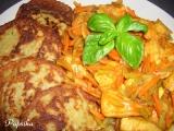 Kuřecí kousky s nudličkovou zeleninou recept