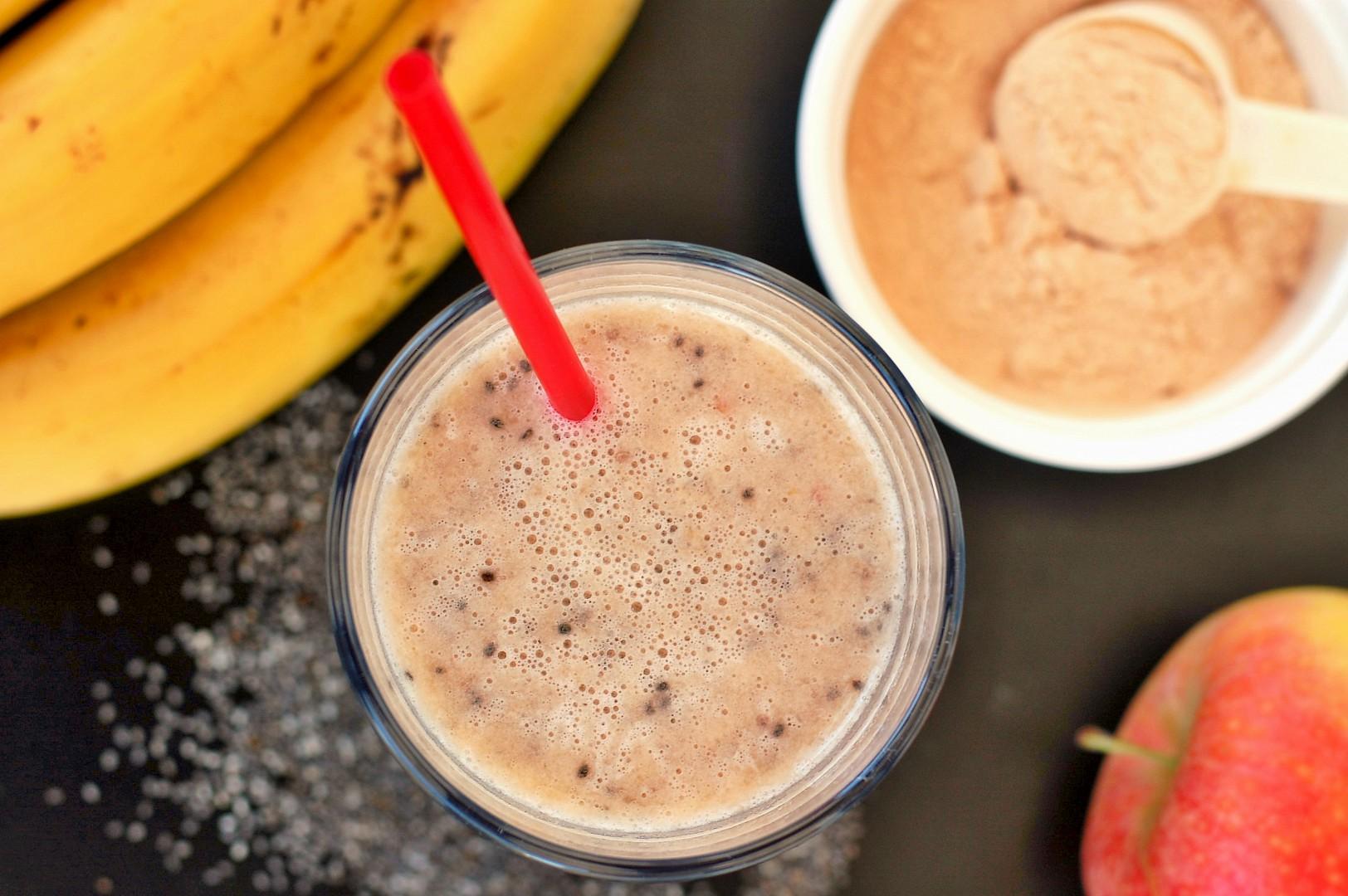 Proteinové smoothie s banánem a jablkem recept