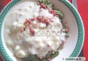 Selské halušky špenátové