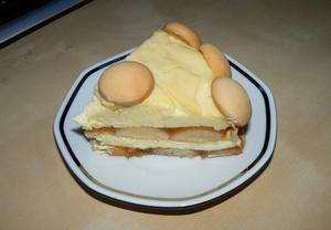 Lehký tvarohovo  pudingový dortík